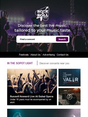 event-concert newsletter template